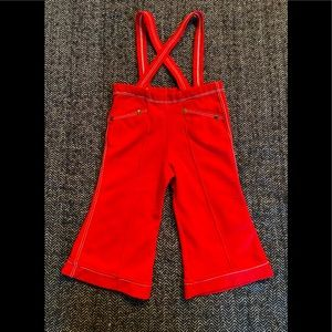 Vintage red jumper with cool white stitching unlabelled  my guess is it's 12-18m